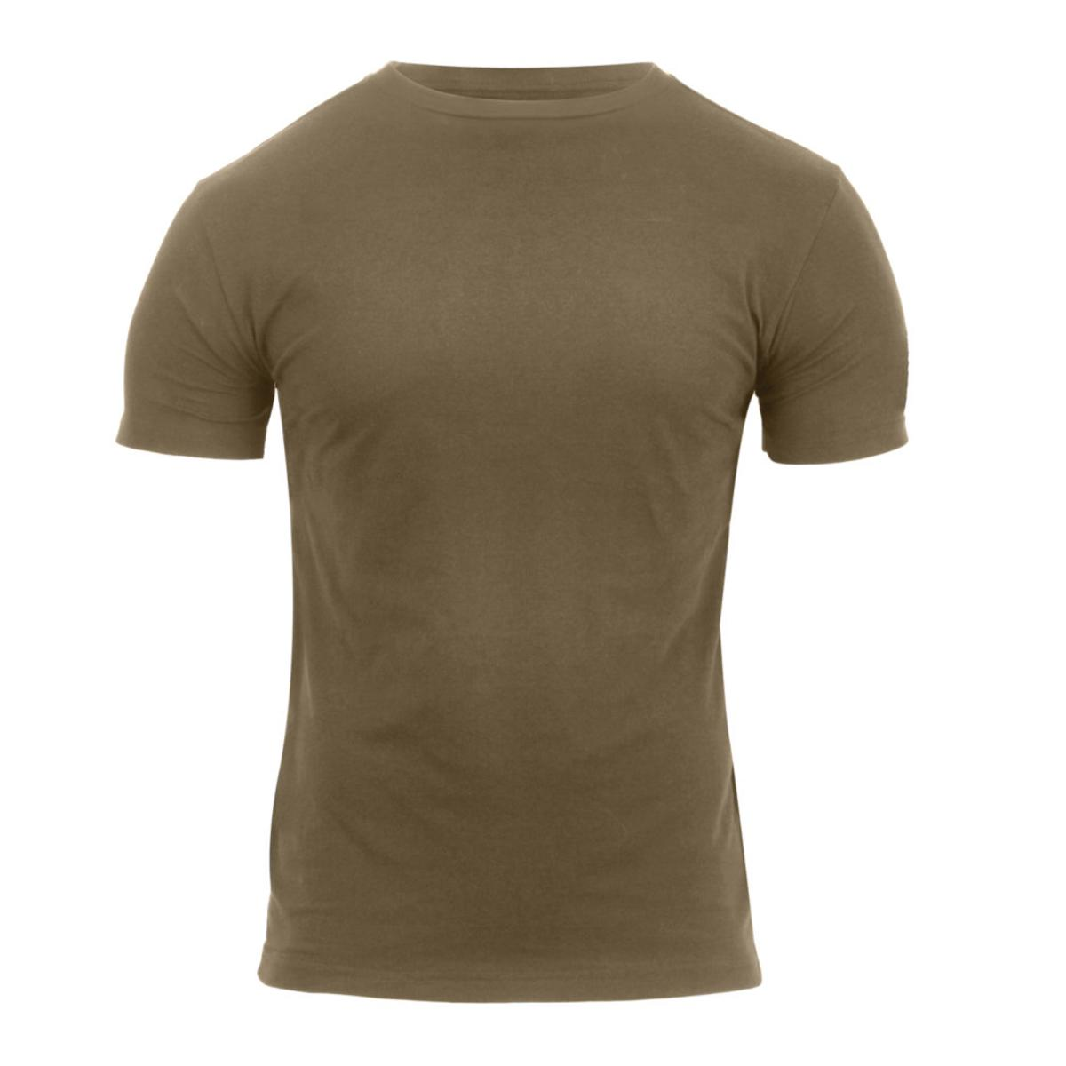 76806596 Tops Rothco Athletic Fit Solid Color Military T-Shirt