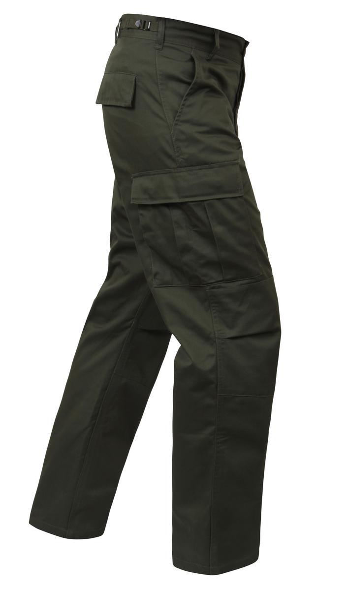 Olive Drab BDU Pants, Mens Military Fatigues, Army BDUs