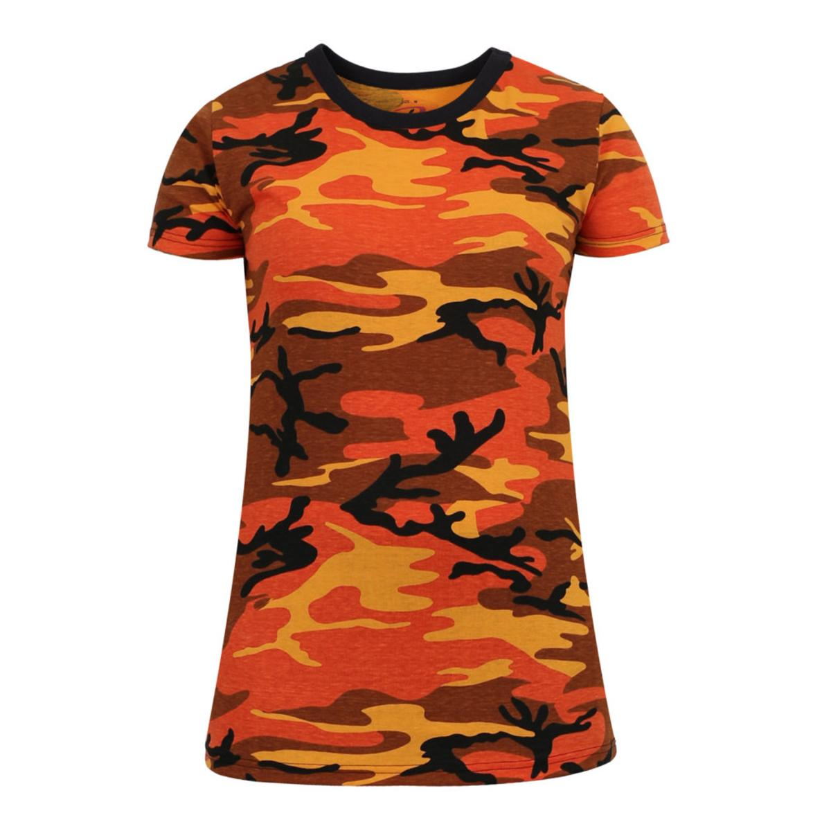 da90c78fc60ab1 Details about Rothco Womens Long Length Camouflage T-Shirt