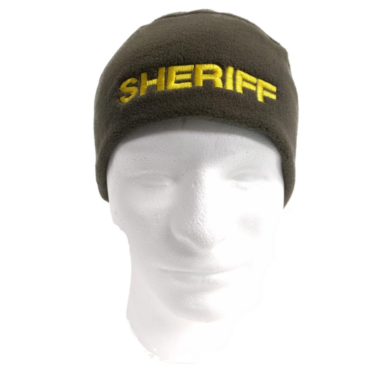 5c91557d9 Details about Polar Fleece Beenie or Skull Cap with Police Embroidery