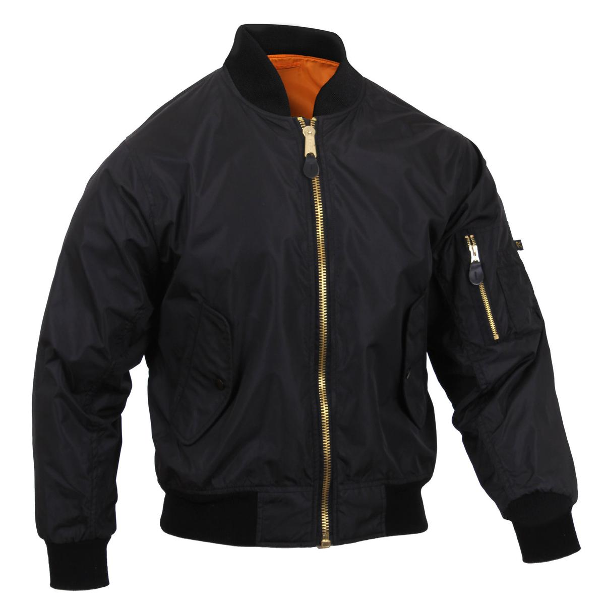 5217243deb37 The bomber jacket also features two front slash pockets with snap down  flaps