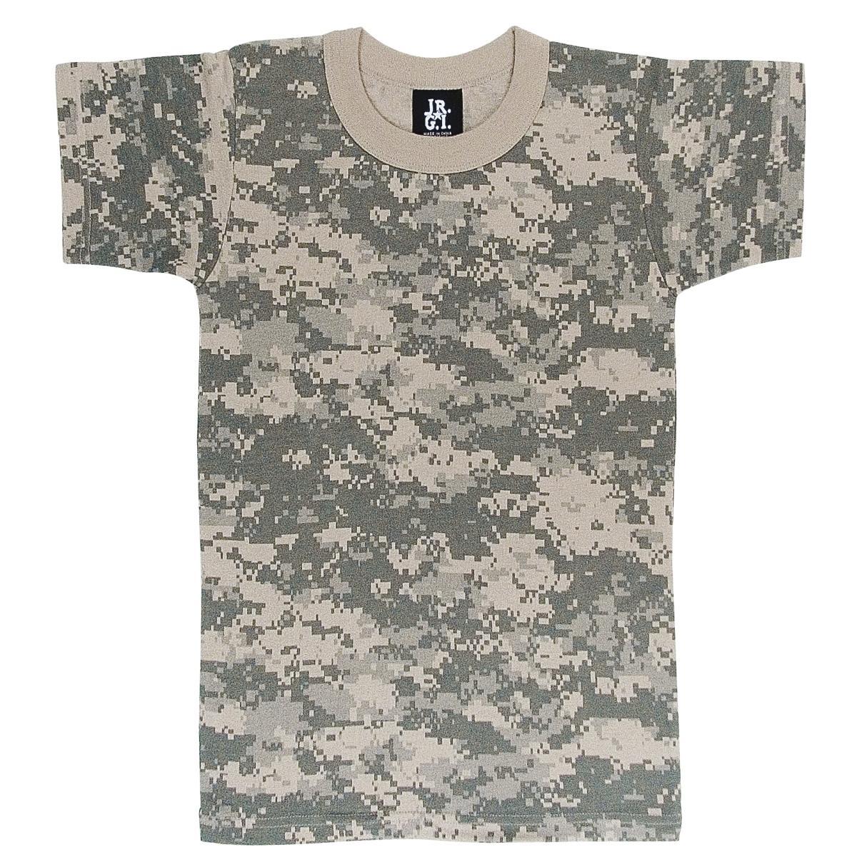 d870c1f0 Details about Boys Digital Camouflage Army Combat Uniform T-Shirt