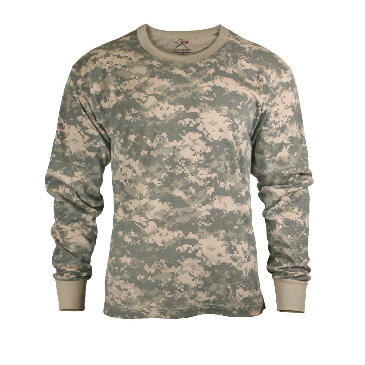 e87a5c89 Details about Mens Long Sleeve ACU Digital Camo T-Shirt