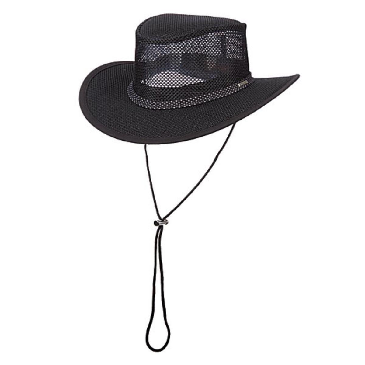 spätester Verkauf begrenzter Verkauf tolle Passform Details about Dorfman Pacific STC205 Stetson Mesh Covered Safari Hat With  Chin Cord