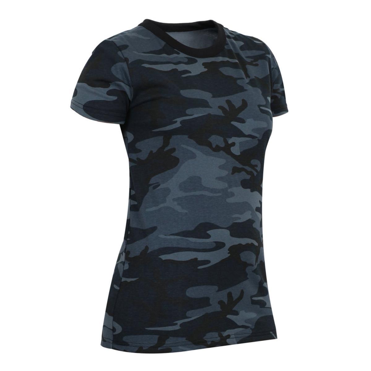 541b397f ... Rothco Womens Long Length Camouflage T Shirt Midnight Blue Camo eBay
