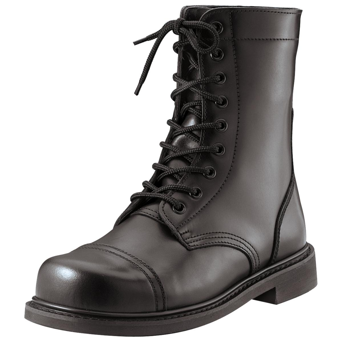 Classic Combat Jump Style Stiefel with All-Leather Upper